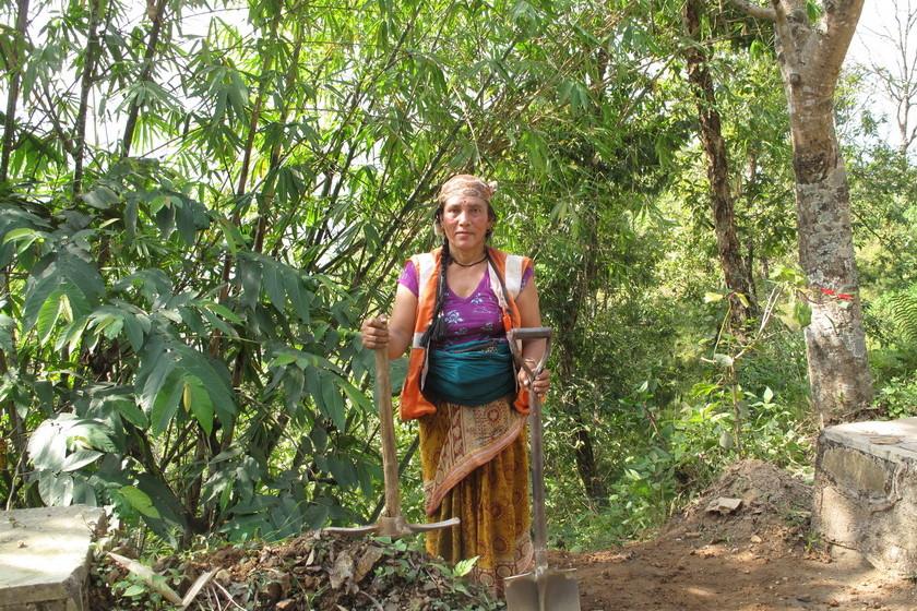 Straßenarbeiterin - starke Frauen!